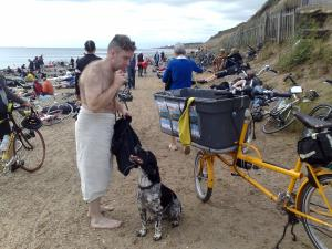 One man and his dog - 120 mls in the basket!